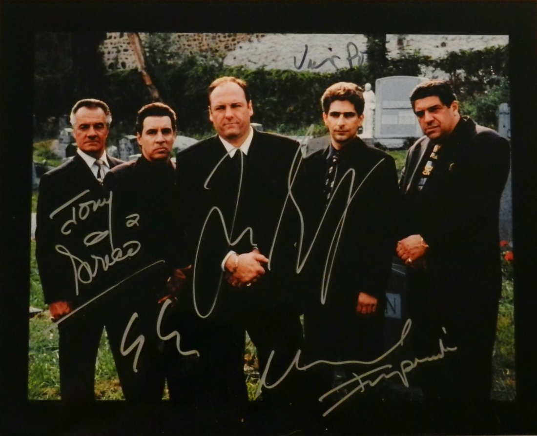 Sopranos Hand Signed Cast Photograph