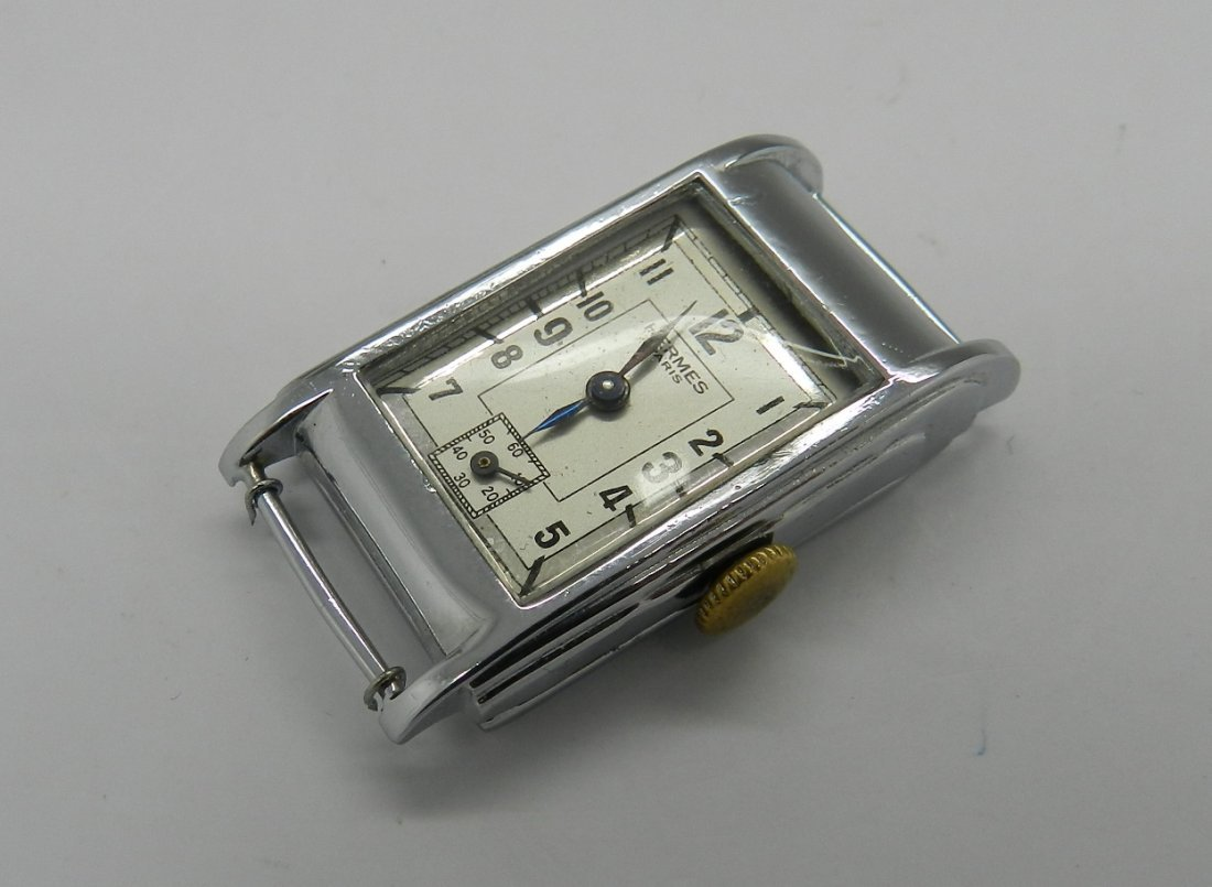 Vintage Hermes Art Deco Men's Watch - 3