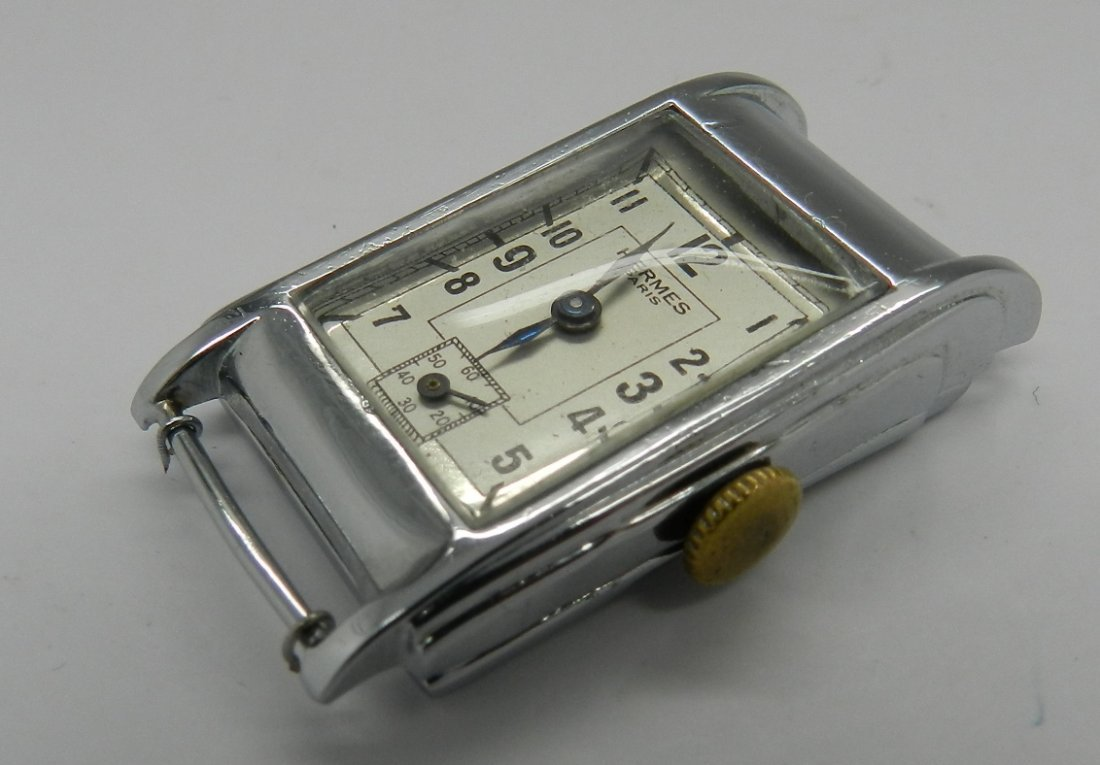 Vintage Hermes Art Deco Men's Watch - 4