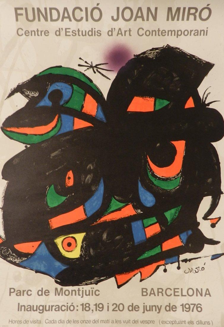 Original Joan Miro 1976 Barcelona Exhibition Poster