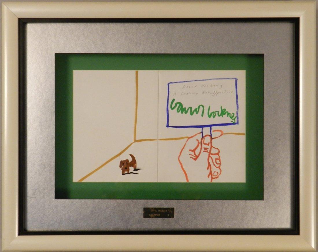 David Hockney Certified Painting