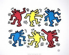 """Keith Haring """"Untitled"""" Offset Lithograph Poster"""
