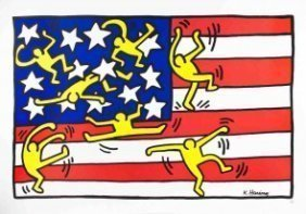 Keith Haring Offset Lithograph Poster