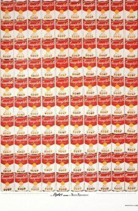 1987 Warhol 100 Campbell's Soup Cans Lithograph Poster