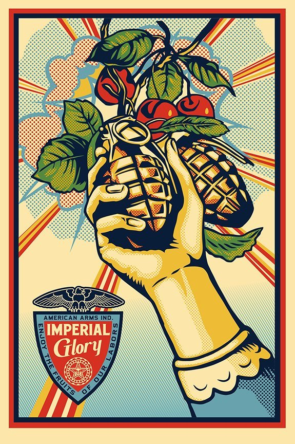 Shepard Fairey Hand Signed Offset Lithograph