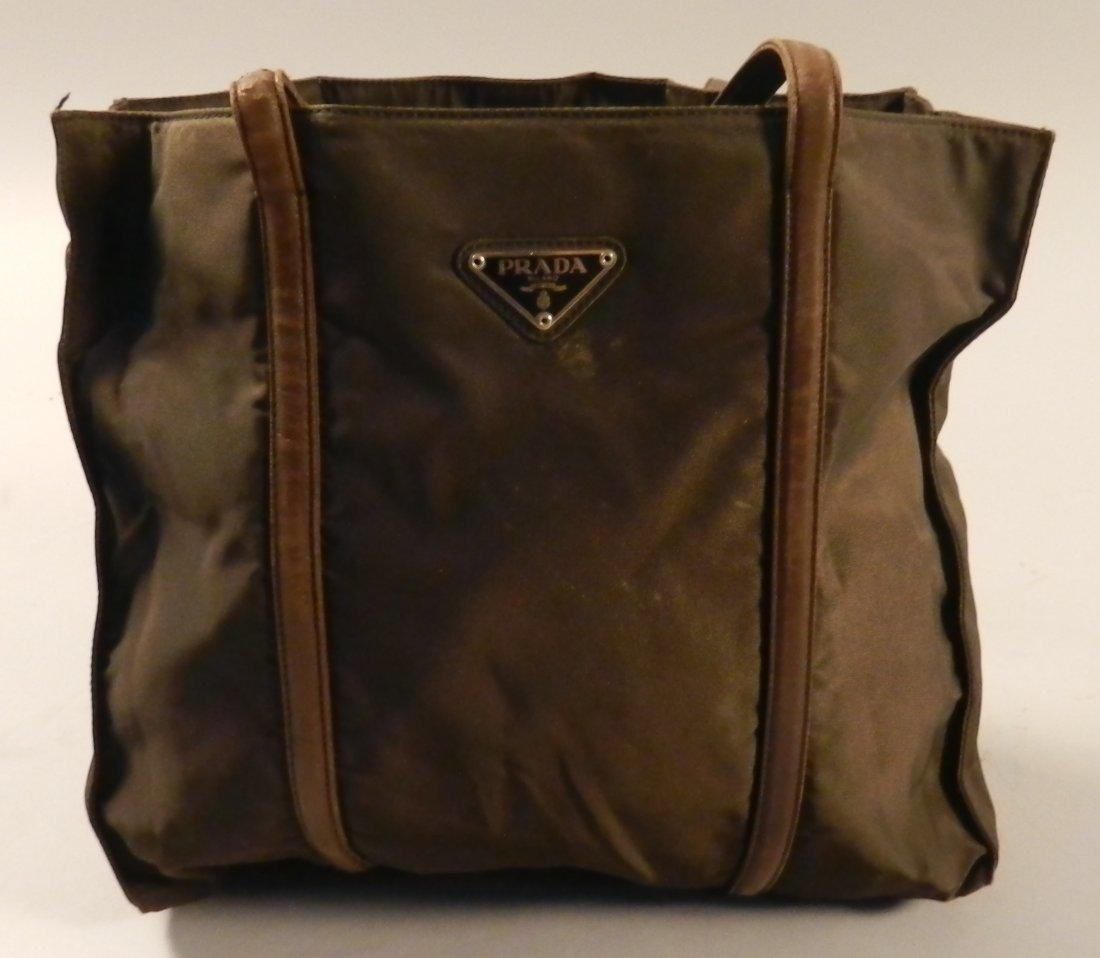 Brown Prada Nylon Bag