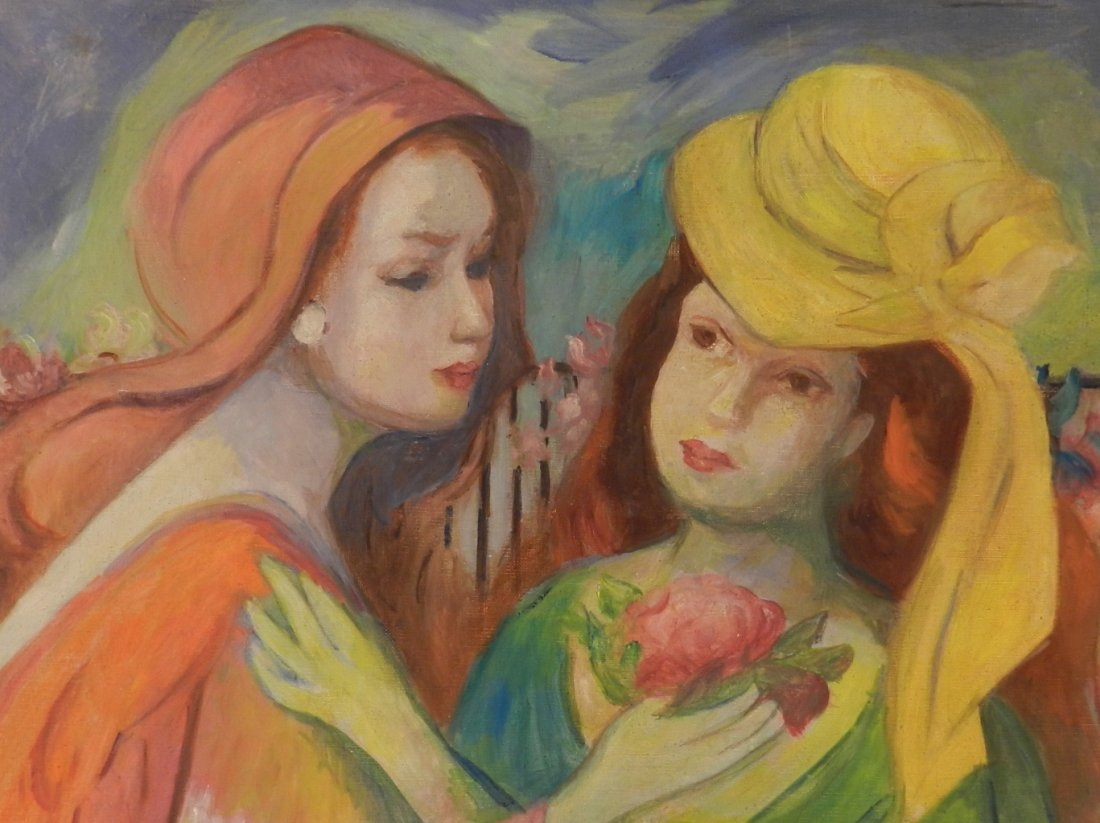 Marie Laurencin Original French Oil on Canvas