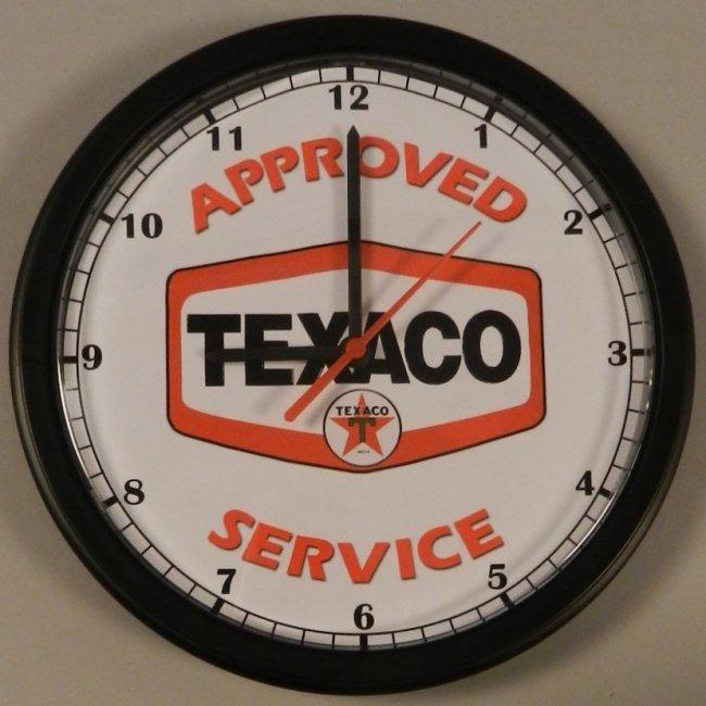 Texaco Oil Dealer Vintage Style Wall Clock
