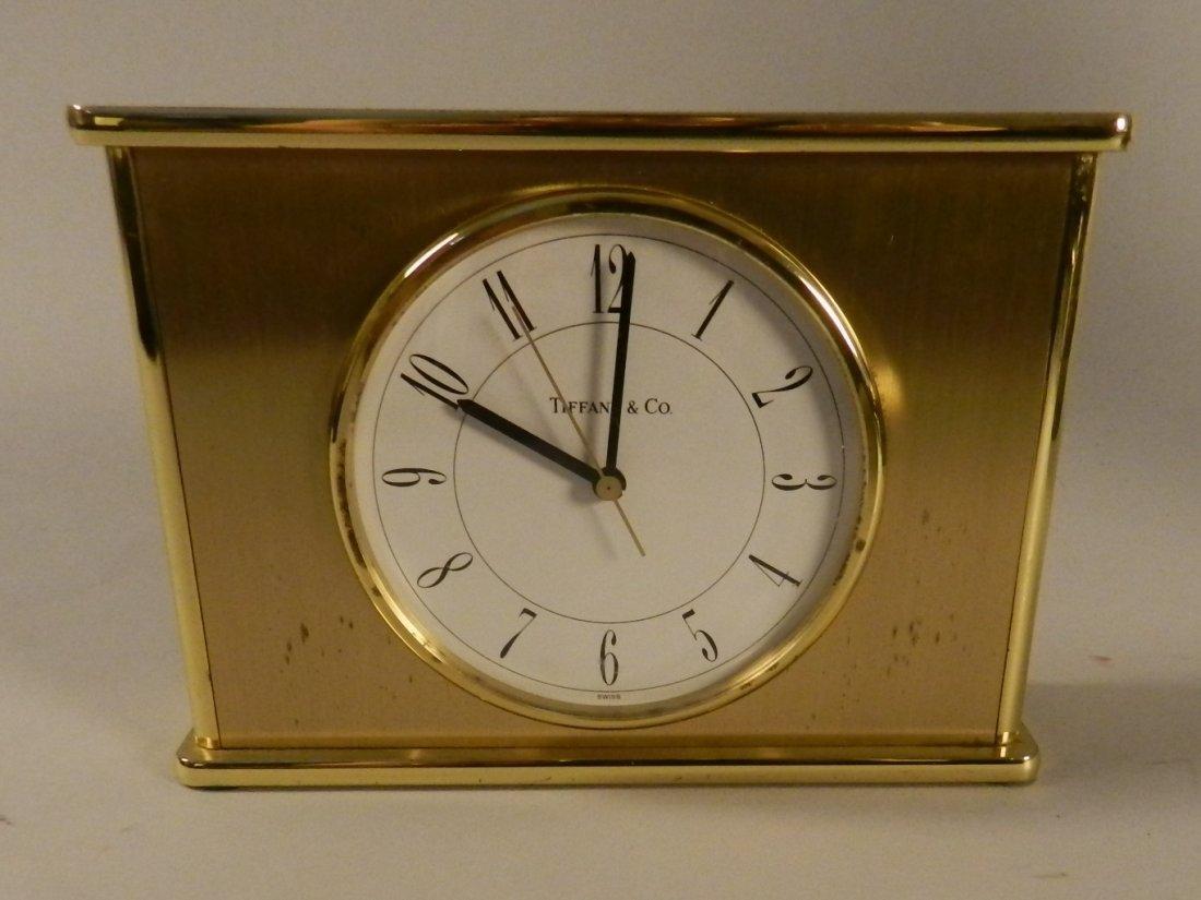 Tiffany & Co Brass Clock