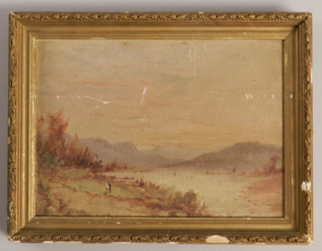 Early 20th C. Oil, Attributed to Leonard Ochtman