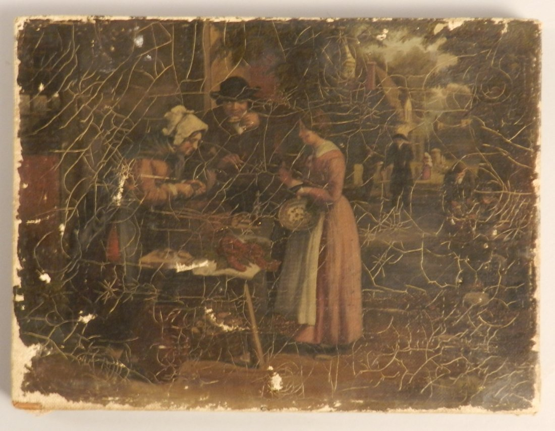 Late 19th C. American School Oil on Canvas