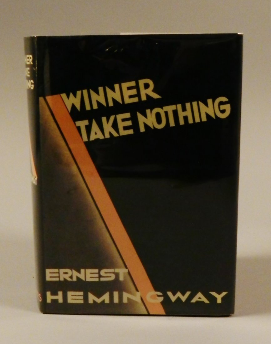 Ernest Hemingway Winner Takes All Hand Signed Book
