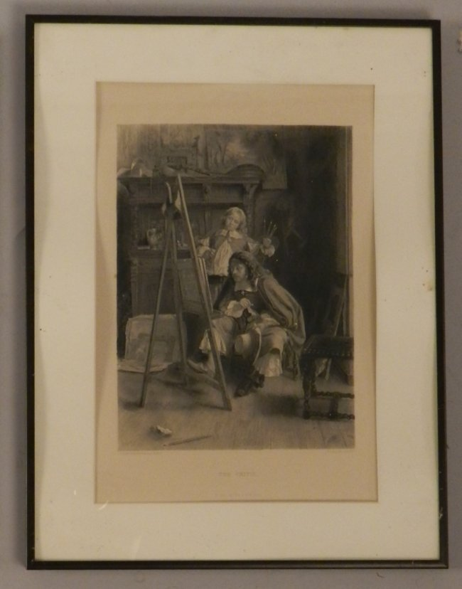 """Vintage French Print """"The Critic"""""""