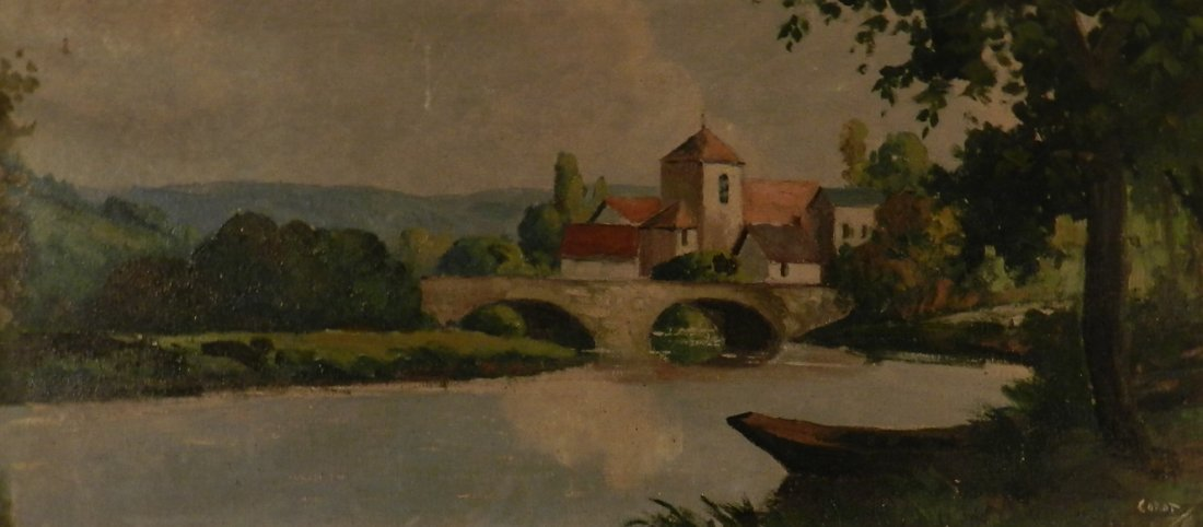 Bears signature Camille Corot Oil Painting
