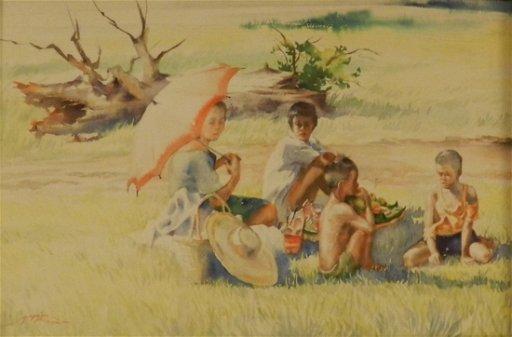 Jose Yap Baguio Original Watercolor