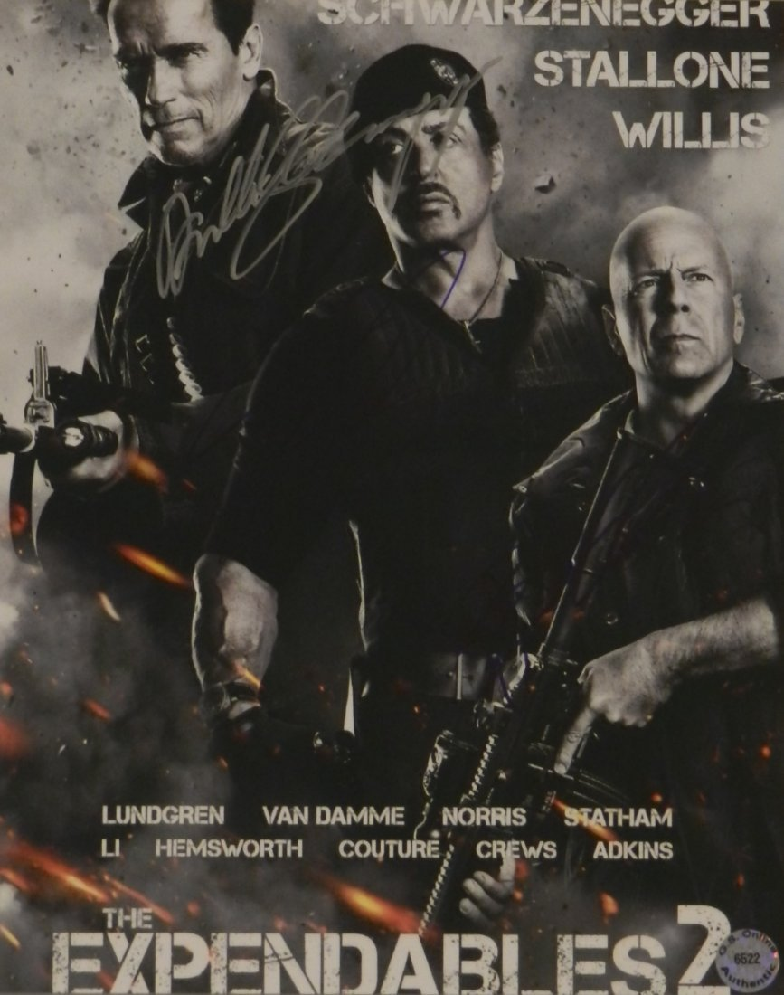 Cast Signed Expendables 2 Movie Photograph