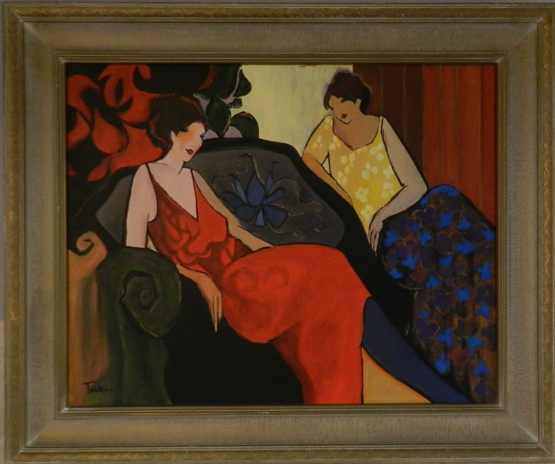 Itzchak Tarkay (1935-2012) Original Acrylic Painting