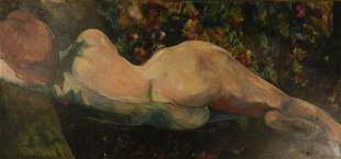 Arthur Beecher Carles Original Nude Oil Painting