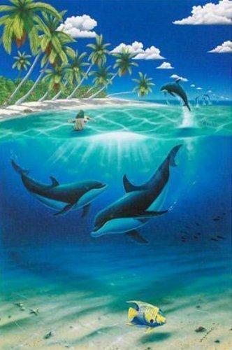 "Robert Wyland ""Innocent Age Dolphin Serenit""  Litho"