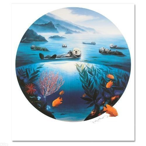 "Robert Wyland ""Sea Otters"" Lithograph"