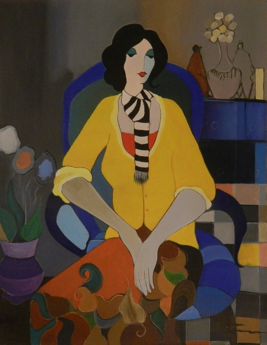 Itzchak Tarkay (1935-2012) Original Painting