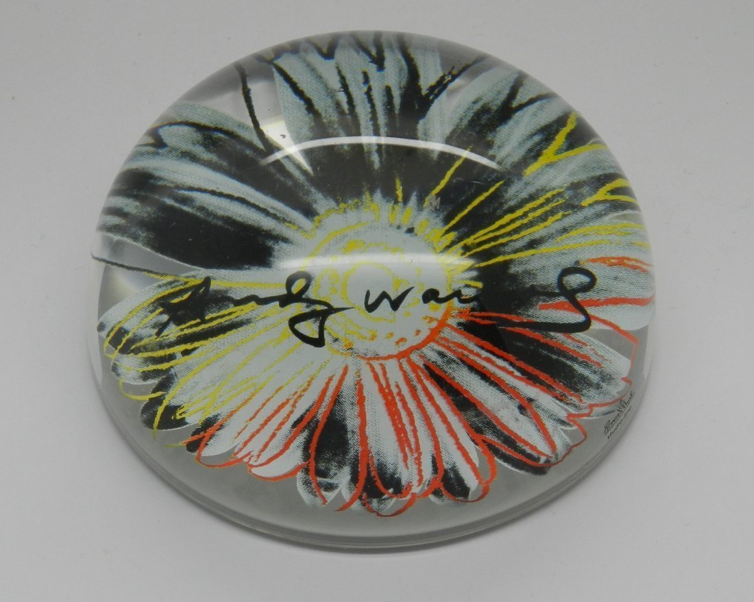 Andy Warhol Autographed Paperweight