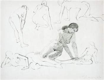 Wayne Thiebaud Original Drawing