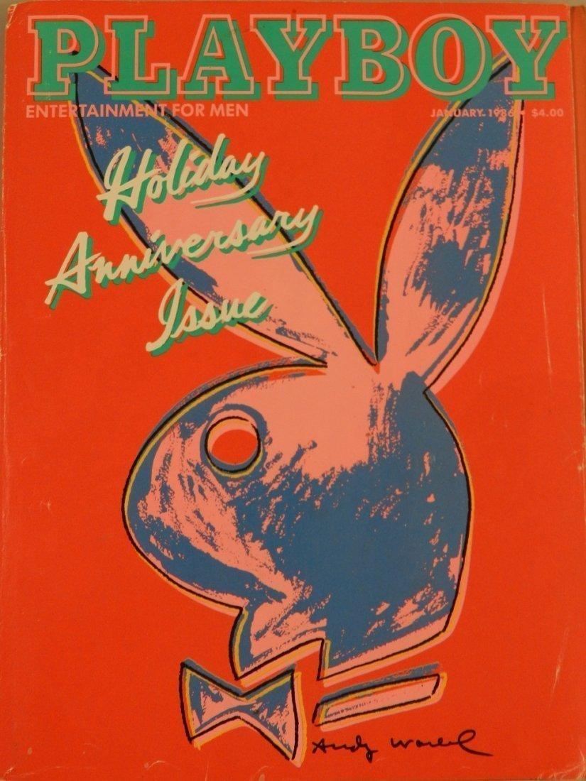 1986 Andy Warhol Playboy Magazine