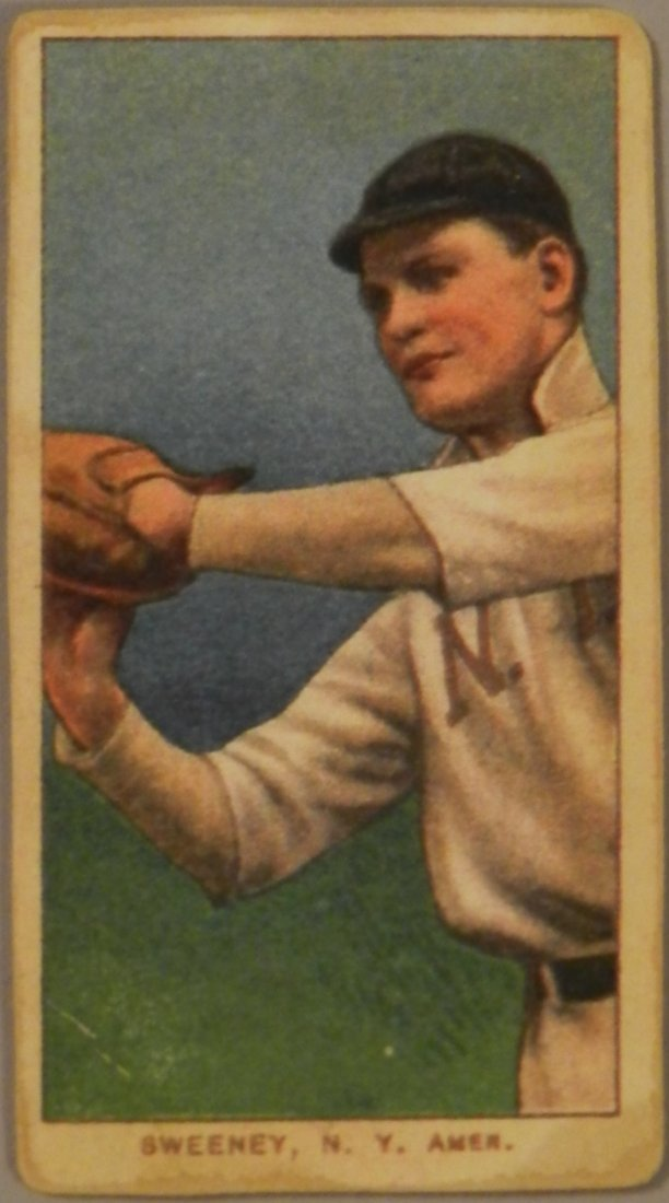 Baseball Card Sweeney New York Drum Cigarettes