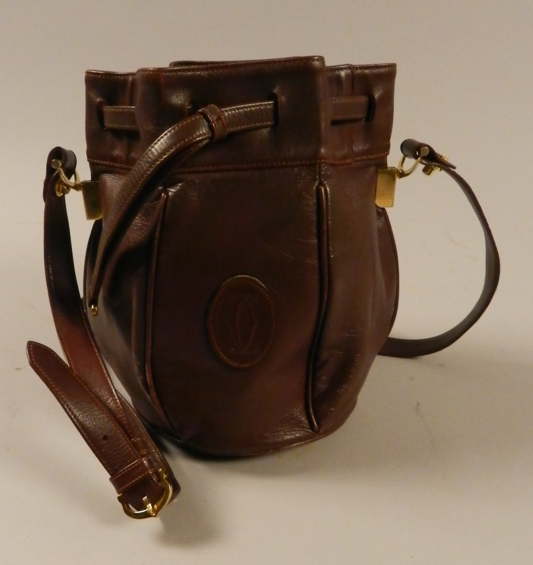 Cartier Brown Leather Bag