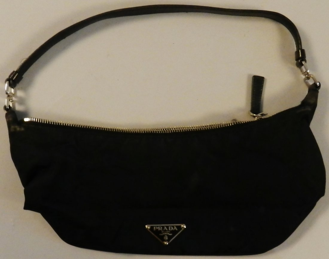 Black Prada Nylon Sport Bag