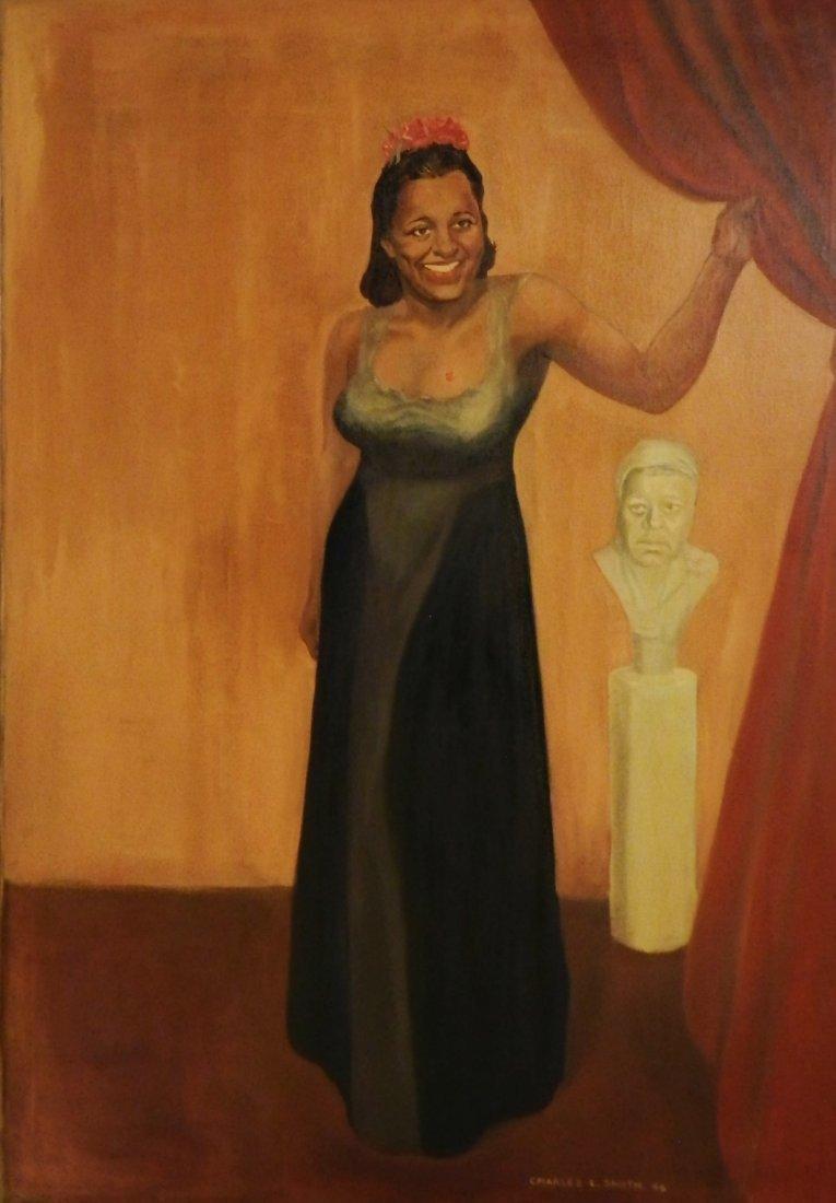 Beautiful Antique Portrait of Billie Holiday