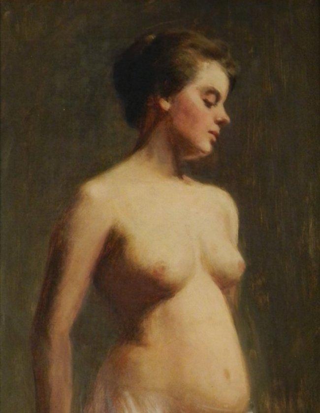 Thomas Eakins (American, 1844-1916) Nude Portrait Oil