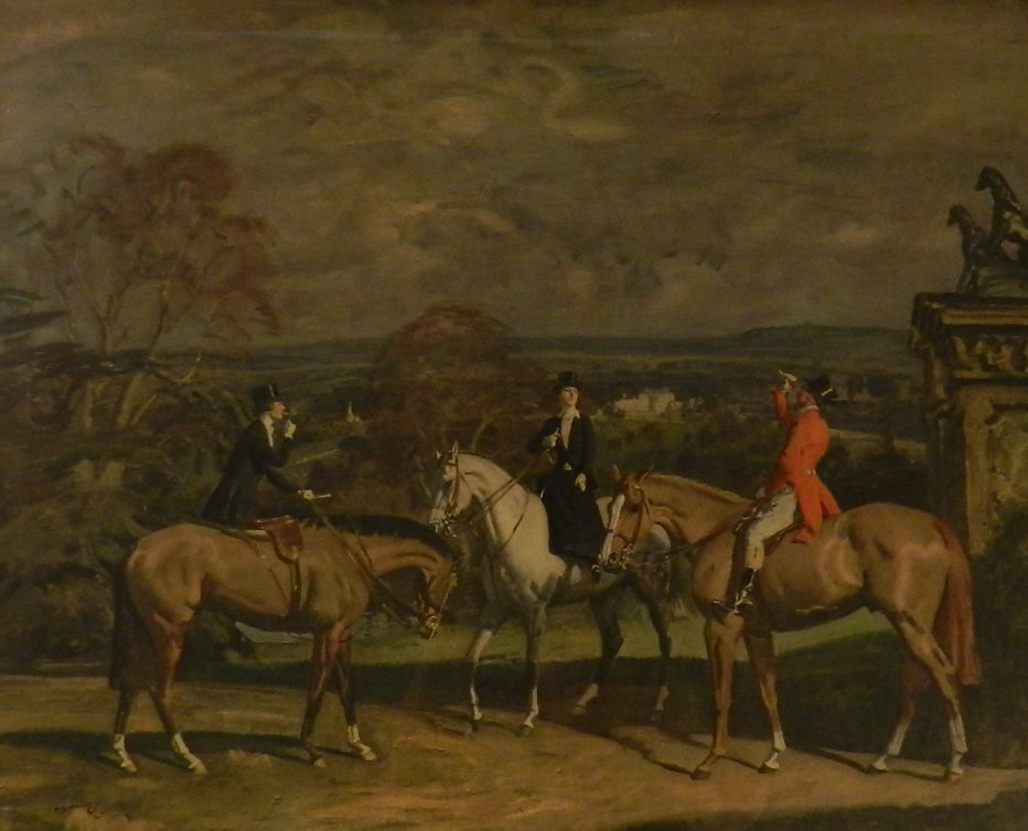 Sir Alfred Munnings Hand Signed Horse Lithograph