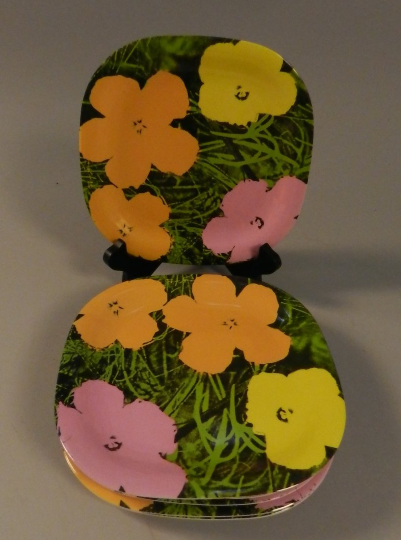 Andy Warhol Flowers Limited Edition Collector Plates
