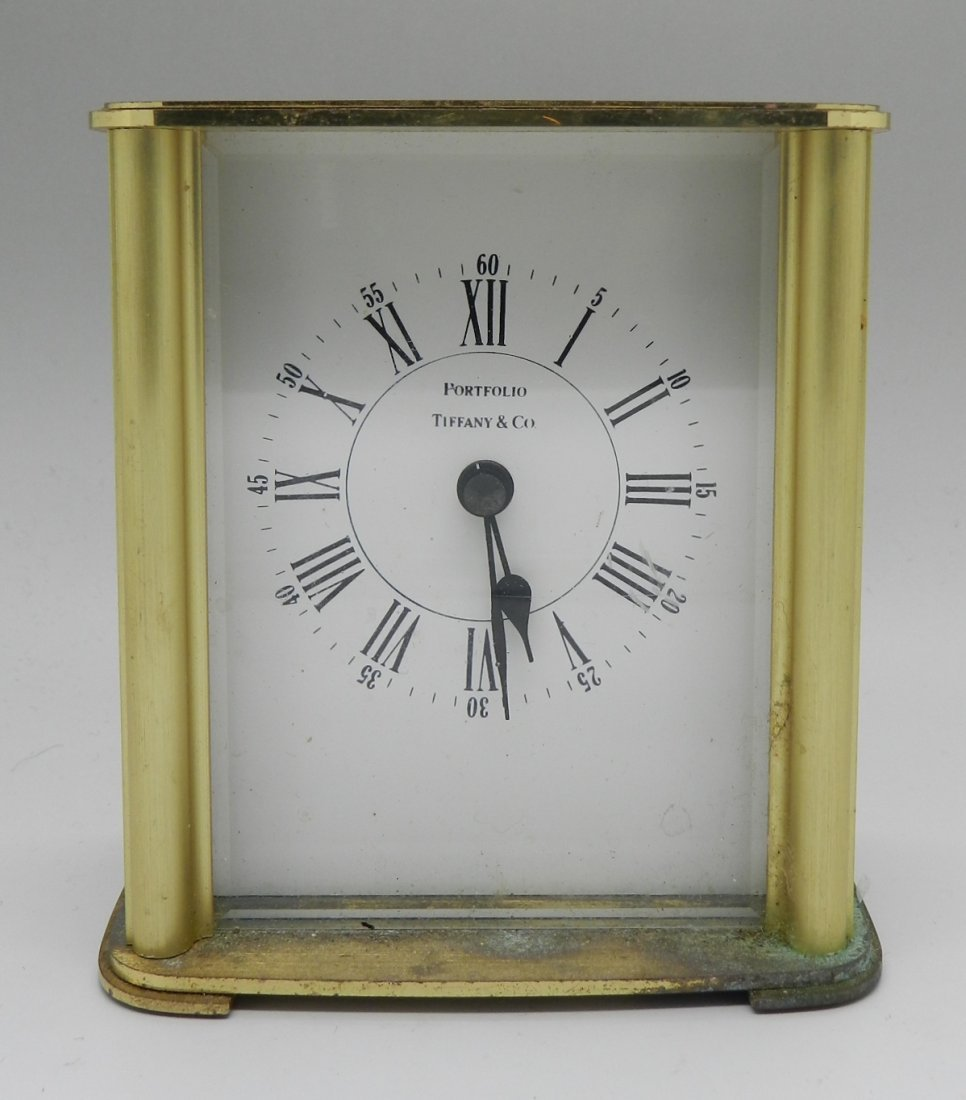 Vintage Tiffany & Co Portfolio Dest Clock