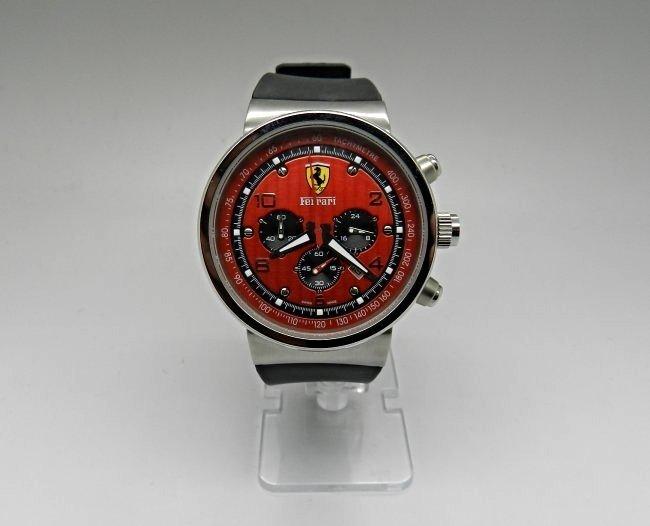 Mens Ferrari Jumbo Red Dial Watch