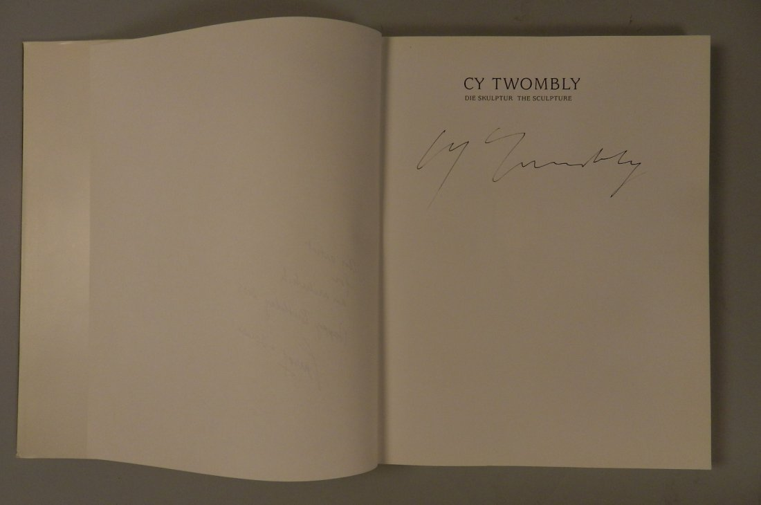 Cy Twombly Hand Signed Book - 2