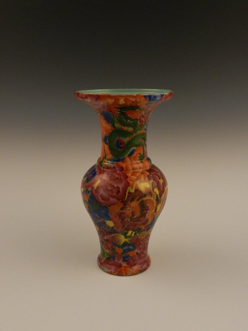 Fine Large Chinese Dragon Motif Porcelain Vase