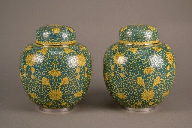 2: Cloisonne Jars