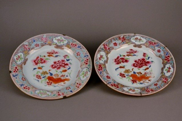 3: Famille Rose Plates