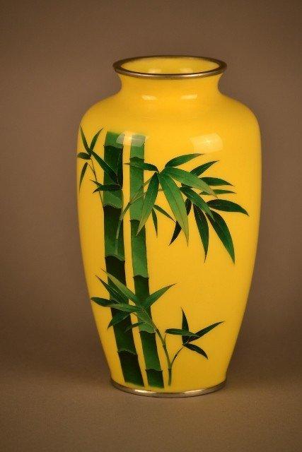 12: Yellow Cloisonne Vase