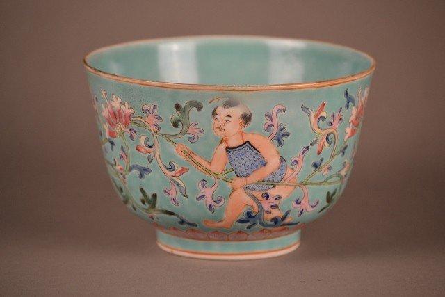 17: Famille rose bowl