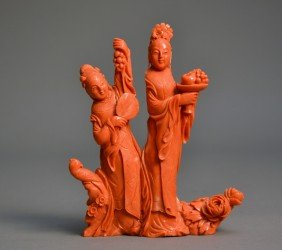 59: Red Coral Carving