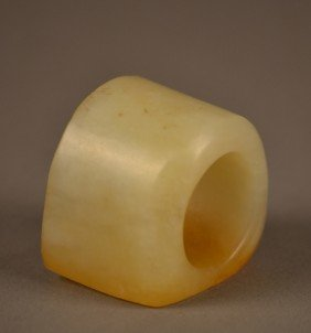 White Jade Archers Ring