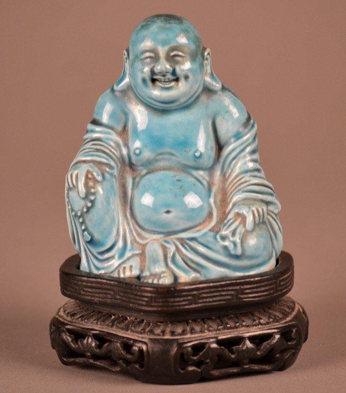 81: Turquoise Budda Porcelain