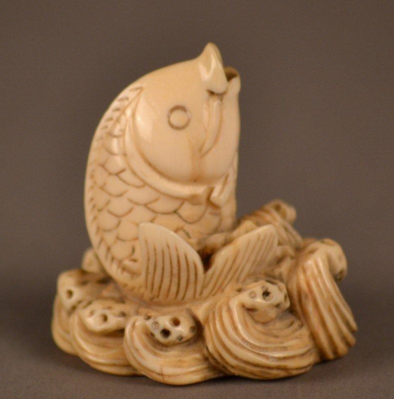85: Ivory Fish Netsuke
