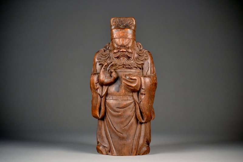 15: Large Bamboo Carving of Wiseman.