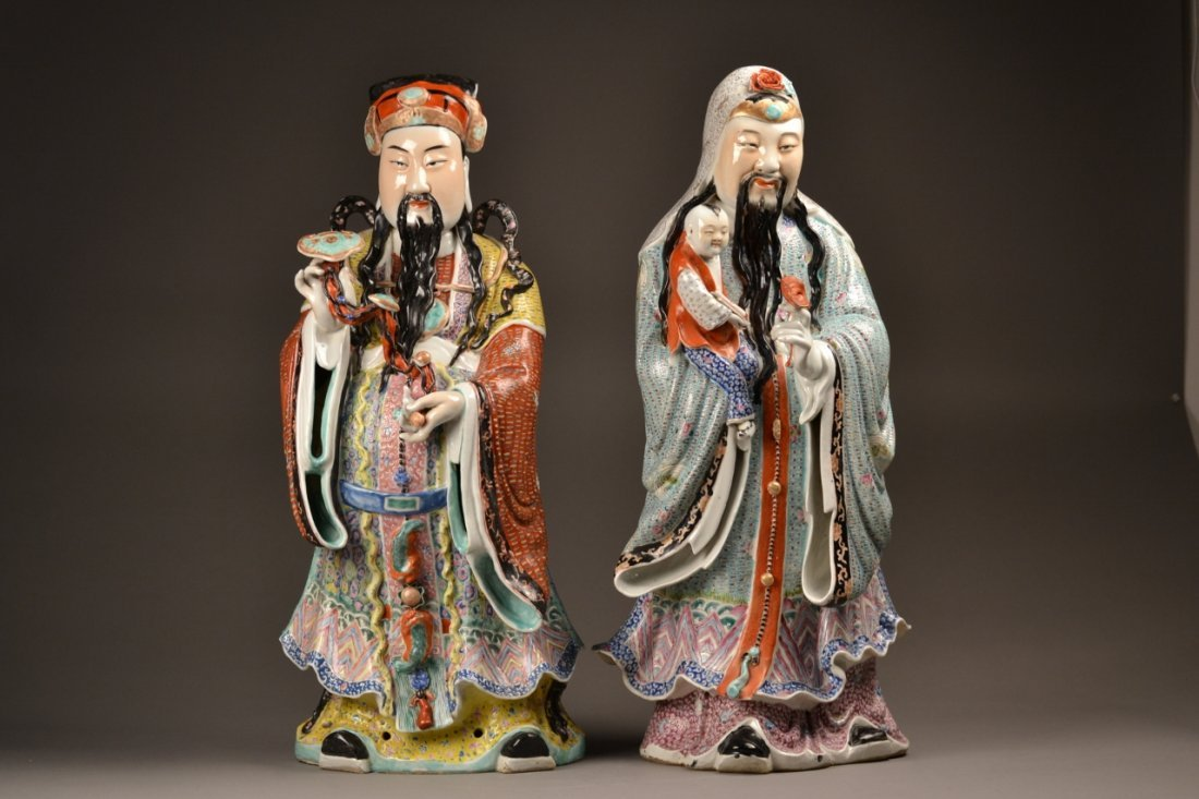 83: Pair of Chinese Republic Figures