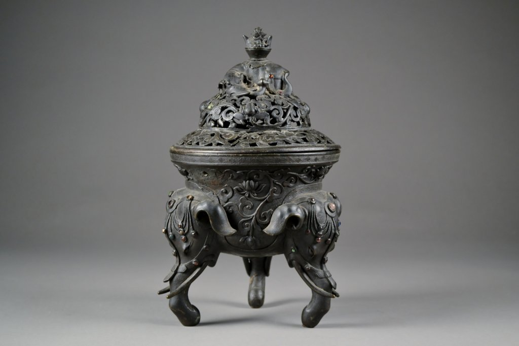 8: Antique Bronze Incense Burner